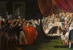La duchesse de Berry présentant son fils le duc de Bordeaux au peuple et à l'armée en présence du roi Louis XVIII