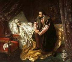 La Mort de Barbara Radziwiłł by Józef Simmler