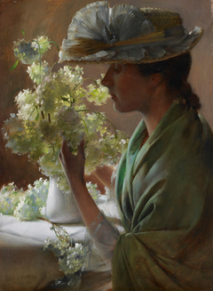 Lady with a Bouquet (Snowballs)
