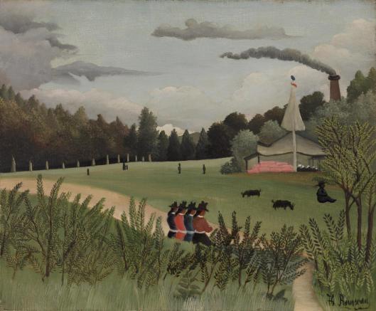 Landscape and Four Young Girls (Paysage et quatre jeunes filles)