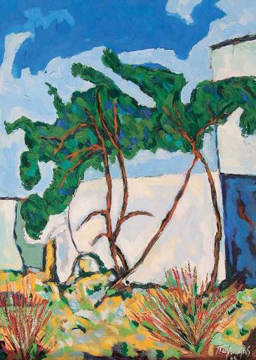Landscape in Tinos island