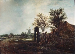 Landscape with a Cottage and a Windmill