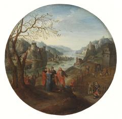 Landscape with biblical scene