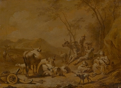 Landscape with Herdsmen and Herd (copy ?)
