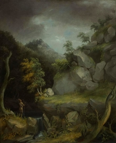 Landscape with Indian