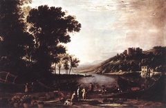 Landscape with Merchants