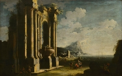 Landscape with Roman Ruins and Figures
