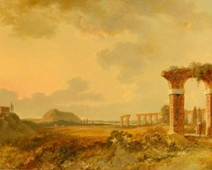 Landscape with Ruins, Sunset