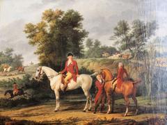 Le duc d'Orléans et son fils, le duc de Chartres, à un rendez-vous de chasse en 1787