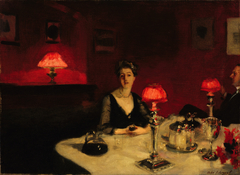 Le verre de porto (A Dinner Table at Night)