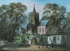 Llanbadarn Church and 'Black Lion' Inn
