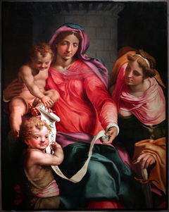 Madonna and Child, Saint John and Saint Barbara
