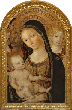 Madonna and Child with Saints Catherine of Alexandria and Christopher