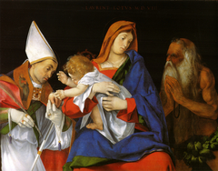 Madonna with Child between Sts. Flavian and Onuphrius