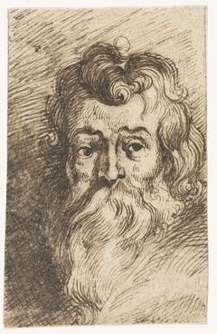 Manshoofd met lange baard