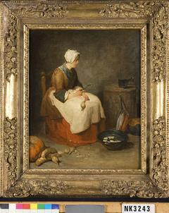 Meisje in keuken