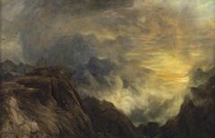 Mountain mist, sun rise (Lake District)