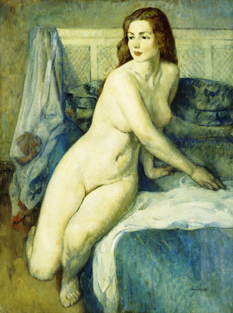 Nude in a Blue Interior