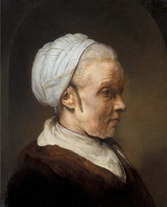 Oil Study of a Woman Lit Obliquely from Behind