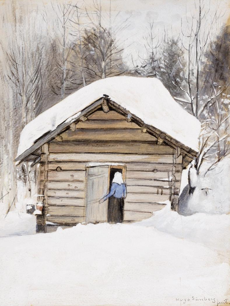 Old Woman at the Sauna Door