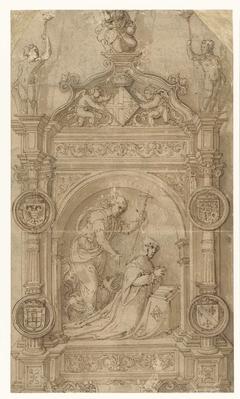 Ontwerp voor een grafmonument voor Margaretha van Oostenrijk