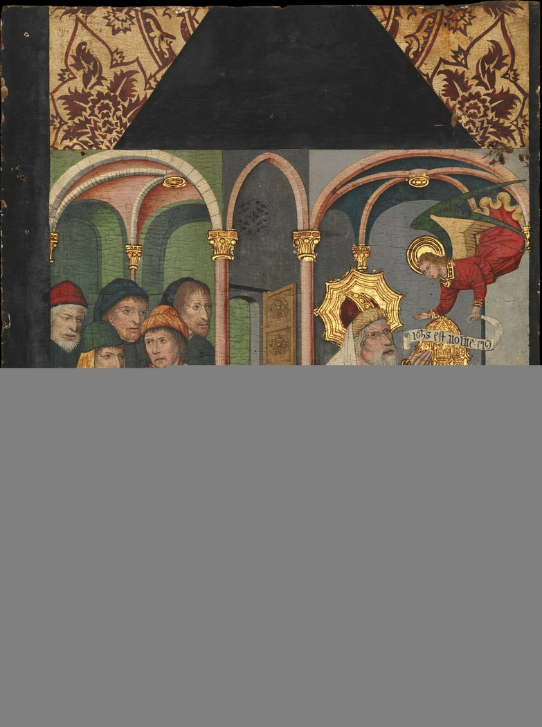 Panel with the Angel Appearing to Zacharias (from a Retable depicting Saint John the Baptist and scenes from his life)