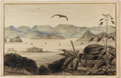 Panorama de la Baie de Rio-Janeiro Prise de Santa Therese Egl. de Notre Dame du Bon Voyage, Fort Villeganhon, Habitation Geimard, Plage de Cavallão, Jurujuba
