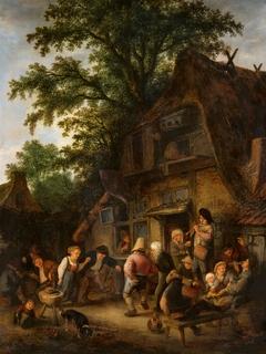 Peasant Dance by a Tavern