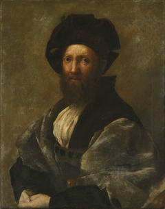 Portrait of B. Castiglione. Copy after Raphael