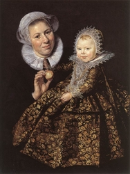Portrait of Catharina Hooft and her nurse