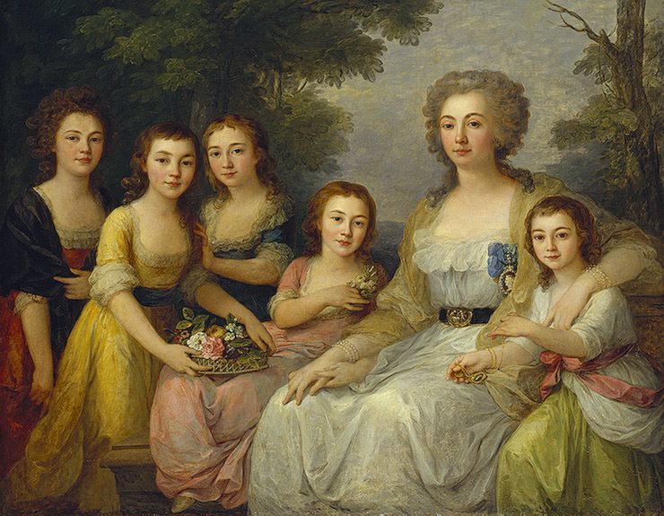Portrait of Countess A.S. Protasova with her Nices