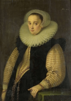 Portrait of Hortensia del Prado (died 1627), Wife of Jean Fourmenois