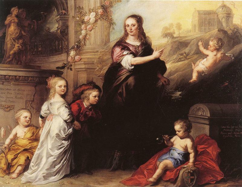 Portrait of Josina Copes-Schade van Westrum and Her Children - c. 1651