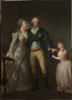 Portrait of Saxon Duke Karl August with his wife Sophie and their daughter