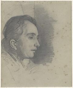 Portret van een man, naar rechts