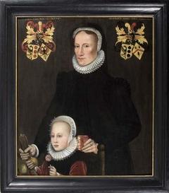 Portret van Fokel van Walta en haar dochter Tiedt van Botnia