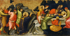 Predella Panel Representing the Legend of St. Stephen: The Stoning of St. Stephen / The Burial of St. Stephen