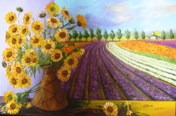 Provence and Vase with Sunflowers.
