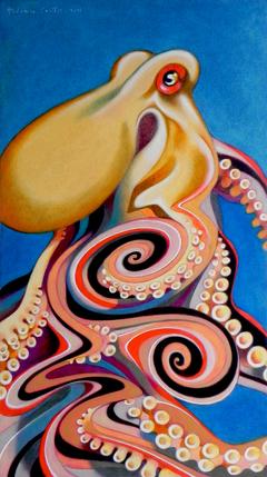Psychedelic octopus