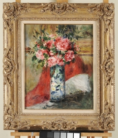 Roses and Peonies in a Vase