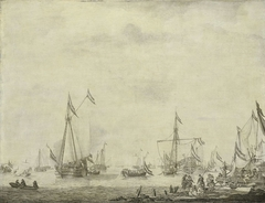 Royal Yacht and State Yacht Sail from Moerdijk with Charles II, King of England, on board, 1660