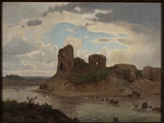 Ruins of the Bobrowniki castle by the Vistula River
