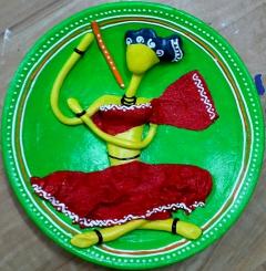 santhal woman (clay)