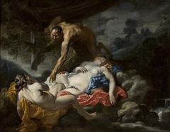 Satyr and nymphs.
