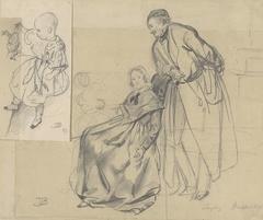 Schoonouders Roelants-Lewe van Middelstum met hun kleinzoon Egbert