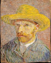 Self-Portrait with a Straw Hat