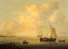 Ships in a Calm Sea