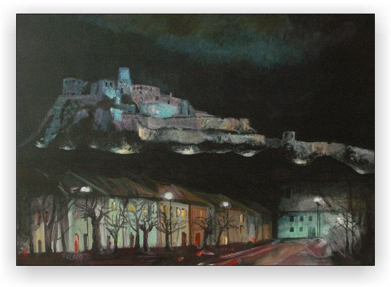 Spišský hrad (noc)