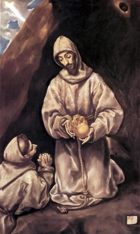 St. Francis and Brother Leo Meditating on Death