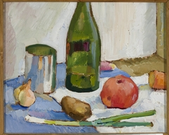 Still life with a green bottle